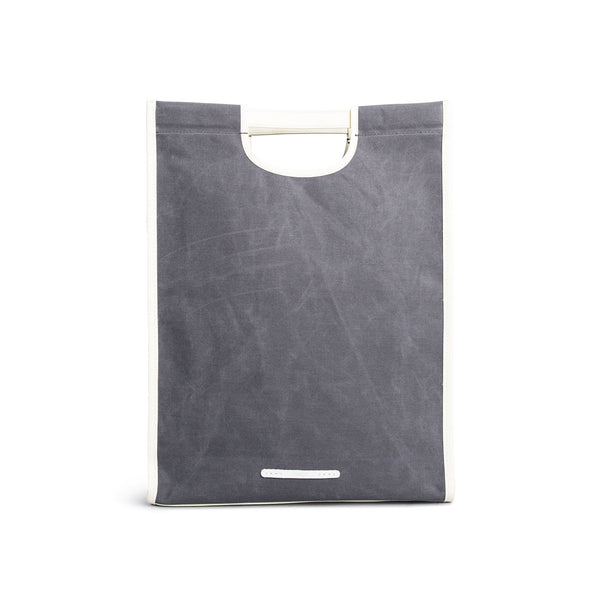 'R Tote 203' Raw Waxed Charcoal
