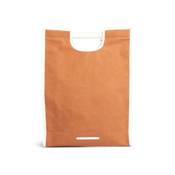 'R Tote 203' Raw Waxed Orange
