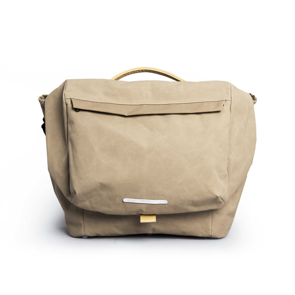 "'R Messenger 500' Raw Waxed 15"" Beige"