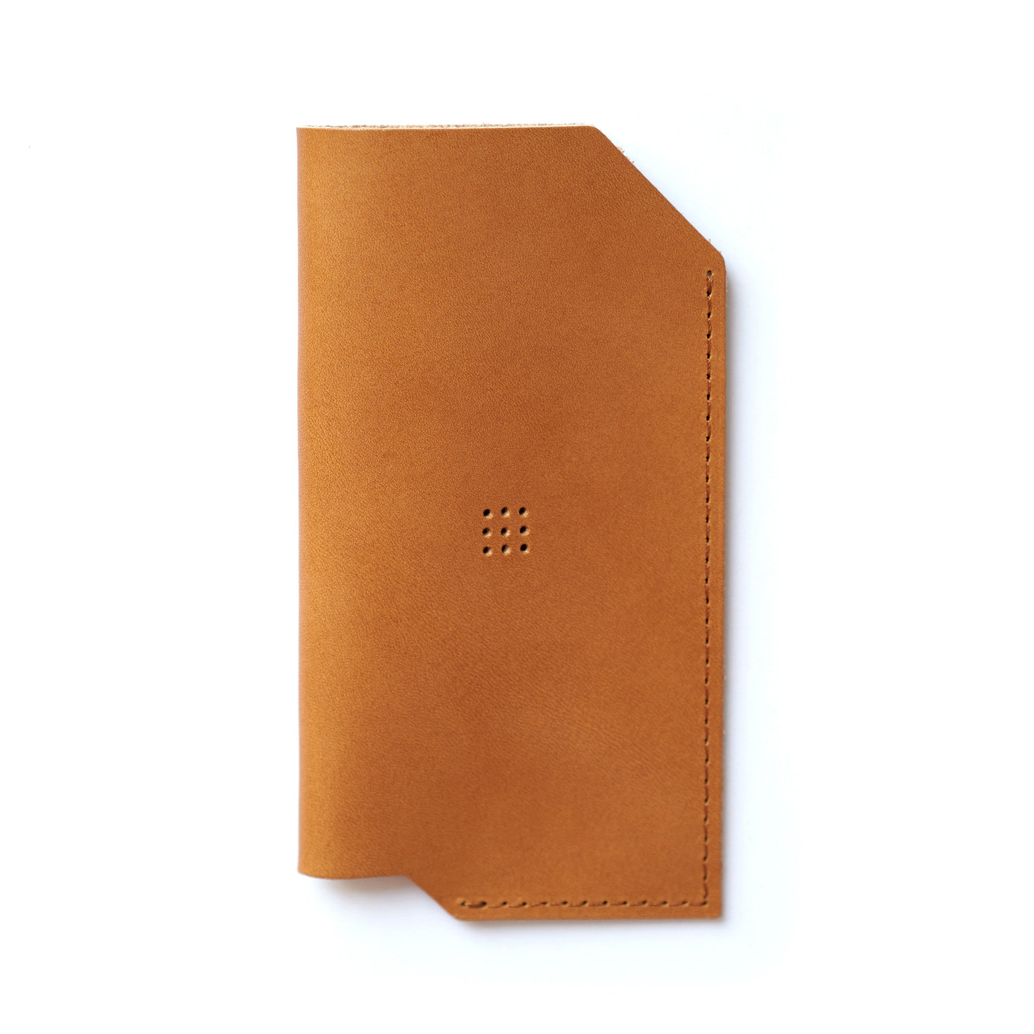 '502' iPhone Vegetable Leather Sleeve Camel