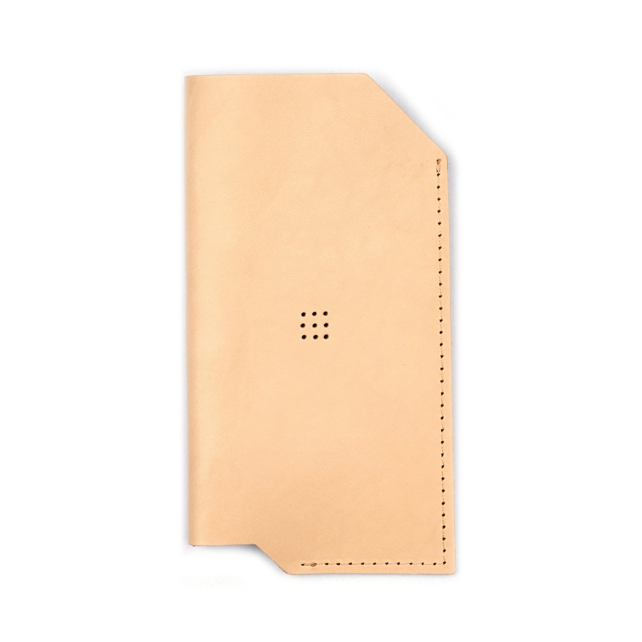 '502' iPhone Vegetable Leather Sleeve Natural
