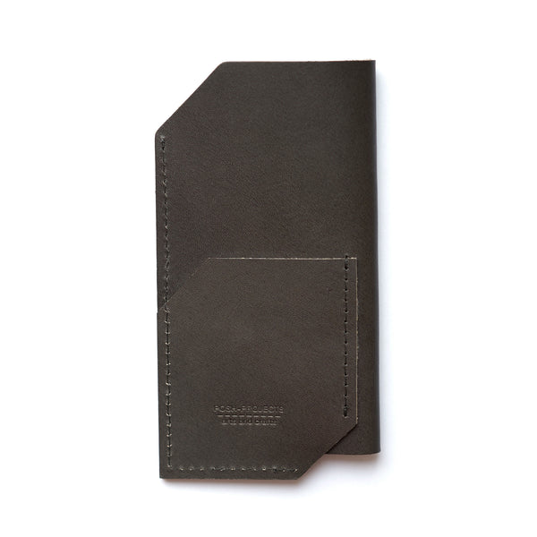 '502' iPhone Vegetable Leather Sleeve Charcoal
