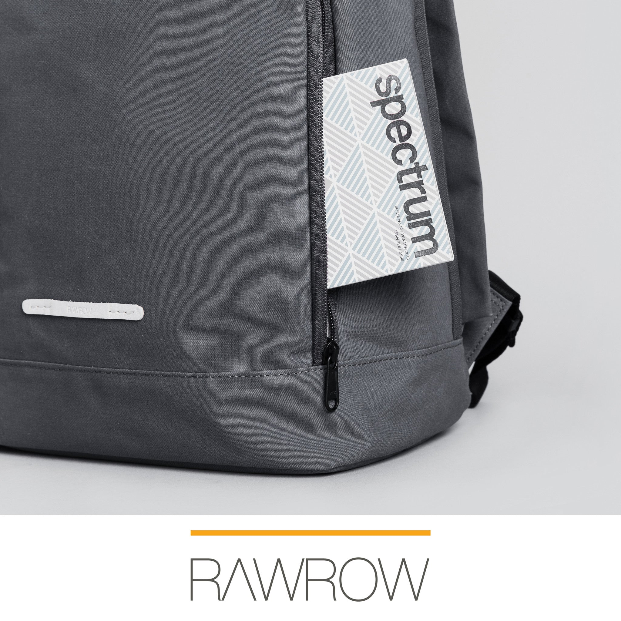 'R Bag 540' Raw Waxed Charcoal