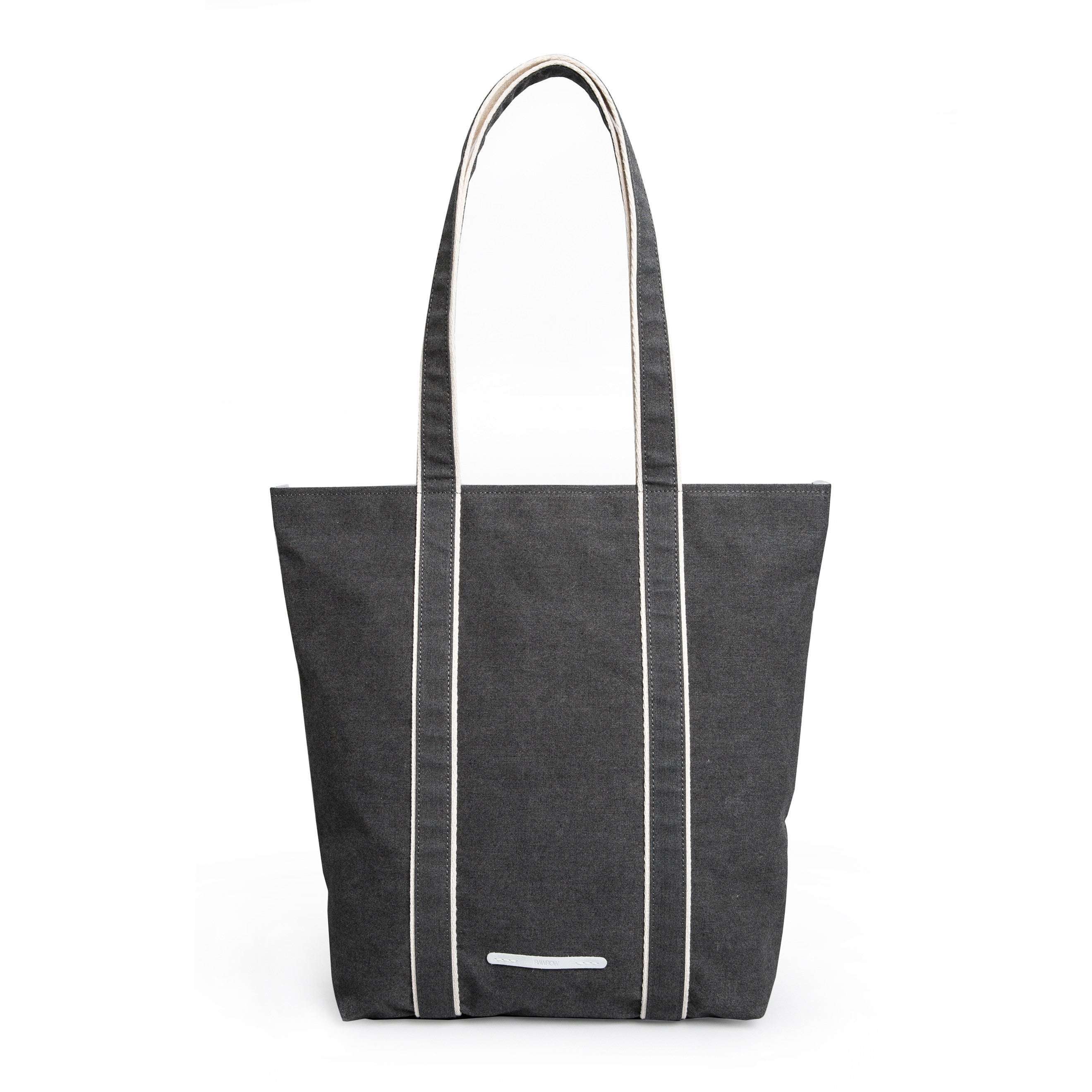 'Shoulder Tote 205' Raw Waxed Black