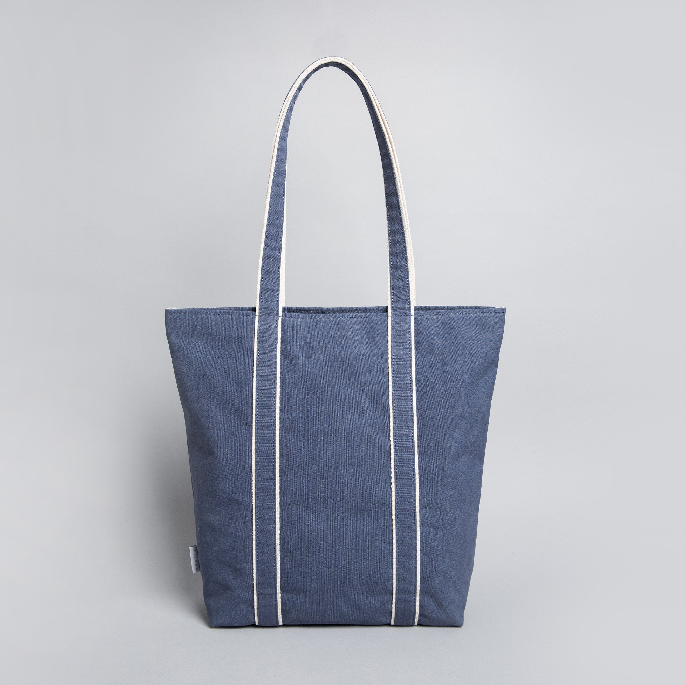'Shoulder Tote 205' Raw Waxed Navy