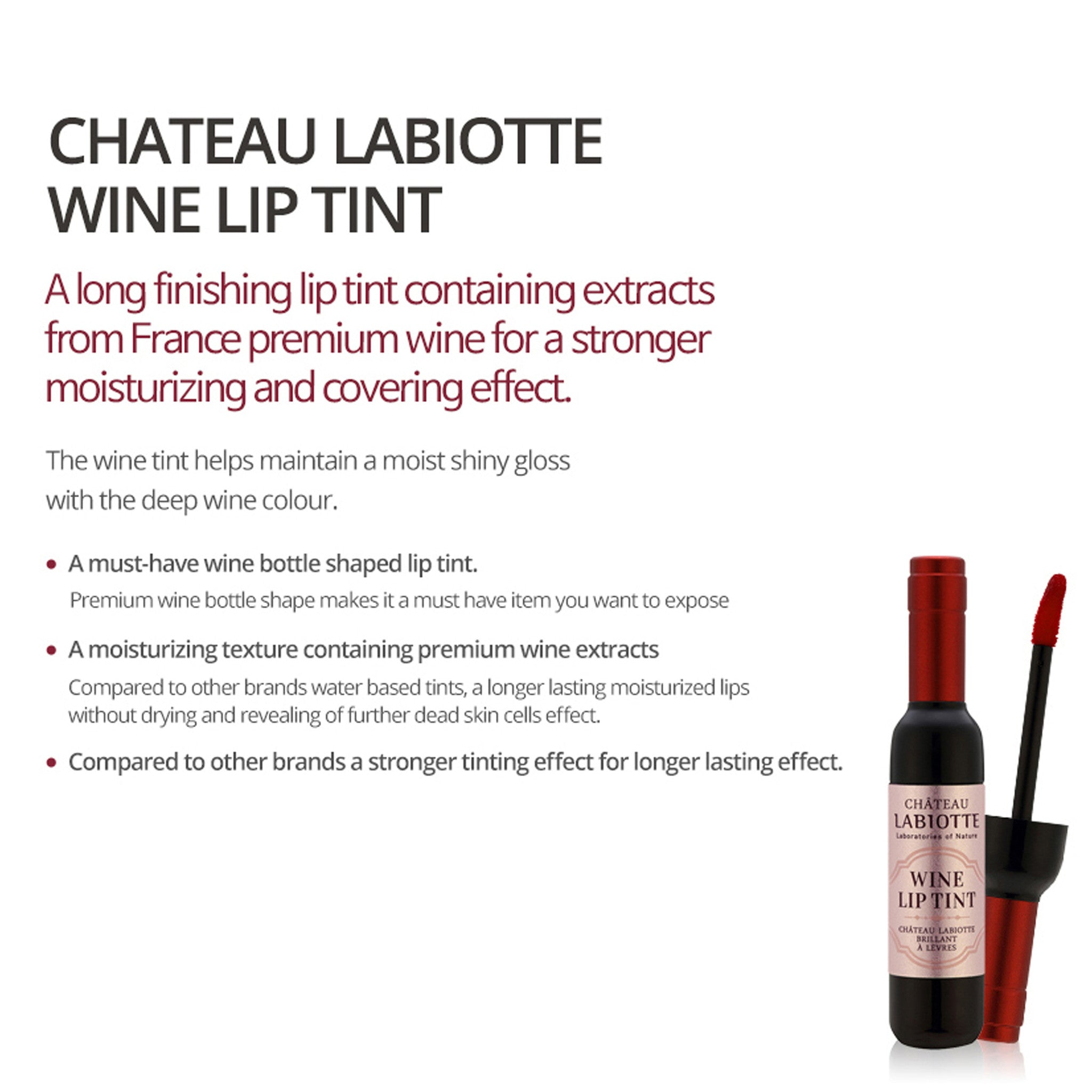 Chateau Labiotte Wine Lip Tint 'Blush Pink'