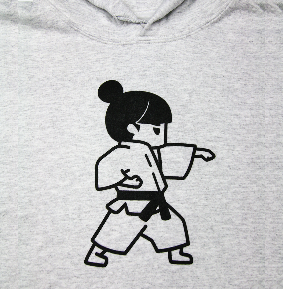 Martial Arts - Girls Karate Punch Hoodie, Original Back Design