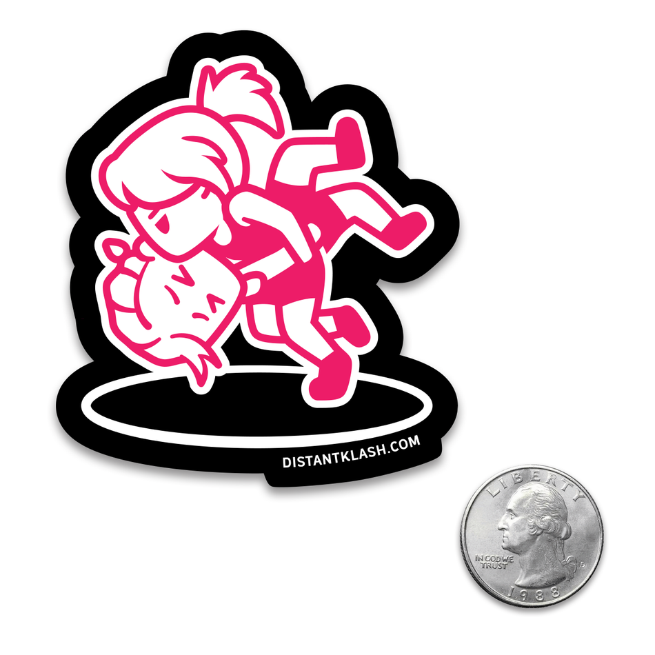 Wrestling - Girls Head and Arm Throw Sticker