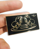 Gold & Black Boys Stance Pin