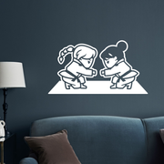 BJJ - Girls Fist Bump Wall Decal