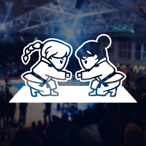BJJ - Girls Fist Bump Decal