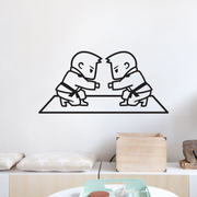 BJJ - Boys Fist Bump Wall Decal