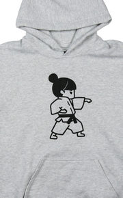 Martial Arts - Karate Girl Hoodie, Old Back Design