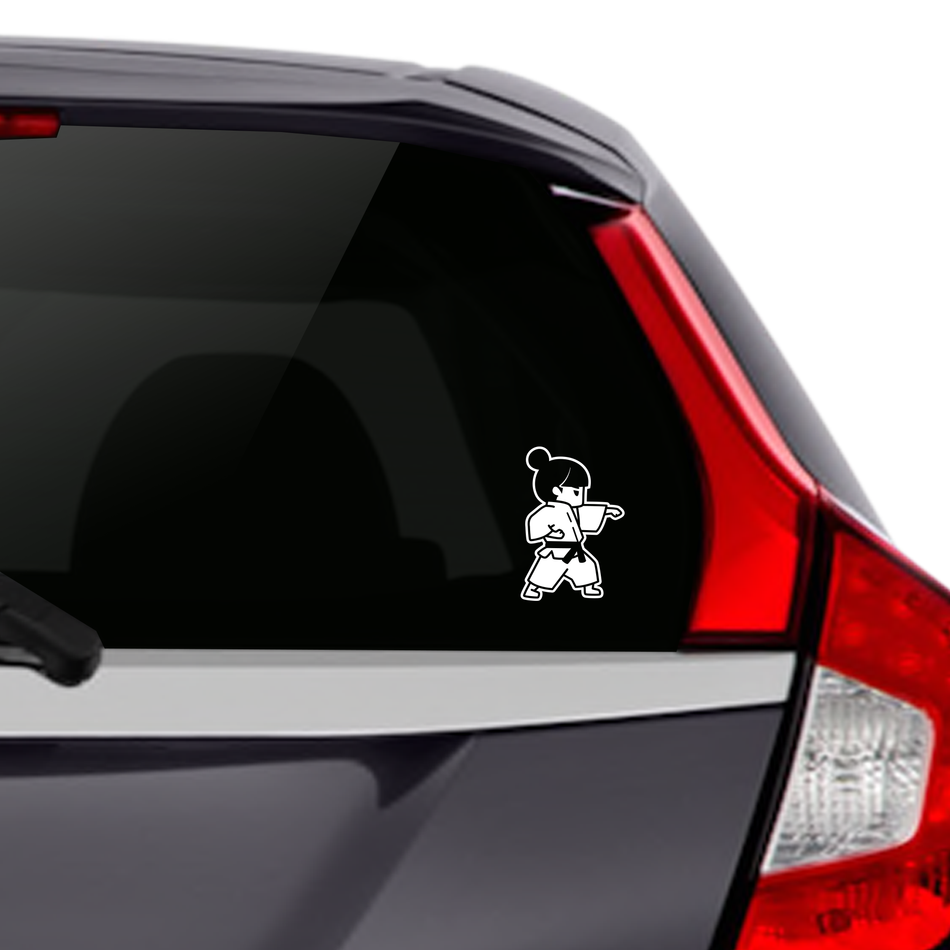 Martial Arts - Girls Karate Punch Car Decal