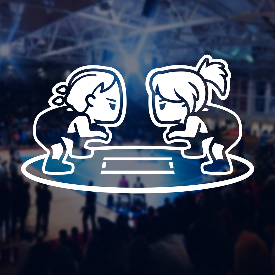 Wrestling - Girls Stance Decal