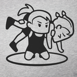 Wrestling - Girls Fireman Grey T-Shirt
