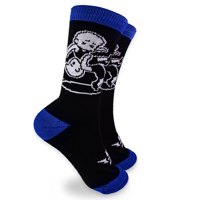 Wrestling - Blue Suplex Crew Socks