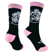 Wrestling - Pink Head and Arm Throw Crew Socks