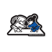BJJ - Girls Fist Bump Sticker