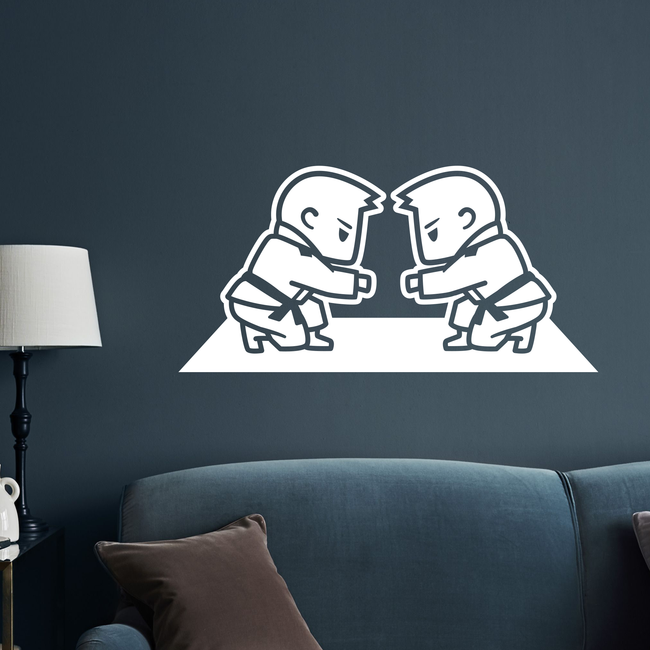 BJJ Boys Fistbump Wall Decal
