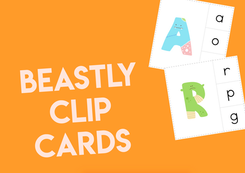 Beastly Clip Cards
