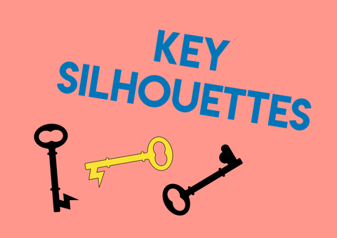 key silhouette shape match