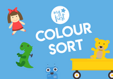 my first colour sorting activity