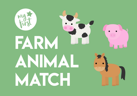 my first farm animal matching