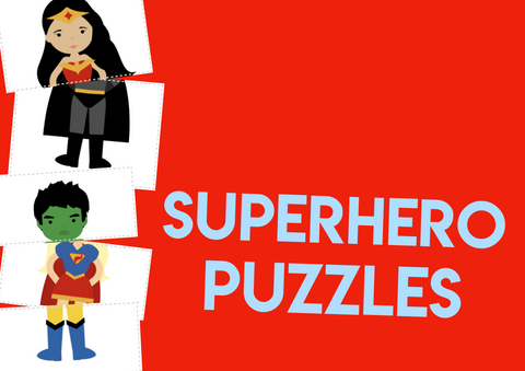 superhero puzzles matching superheroes