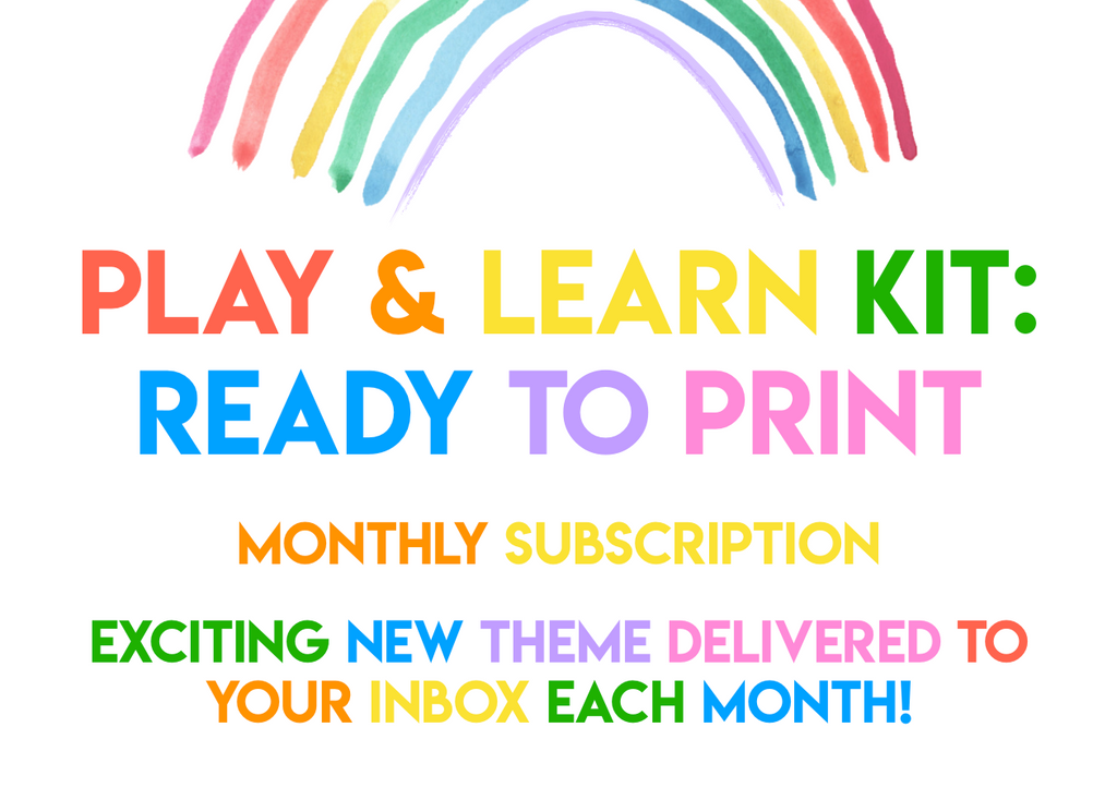 Play & Learn Kit - Ready to Print! (Digital-only subscription) - Current theme: MONSTER MASH