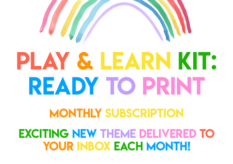Play & Learn Kit - Ready to Print! (Digital-only subscription) - Current theme: BUNNY TALES
