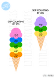 Ice cream Stacking Tens 10-100