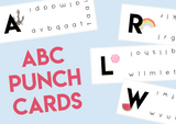 Alphabet Punch Cards