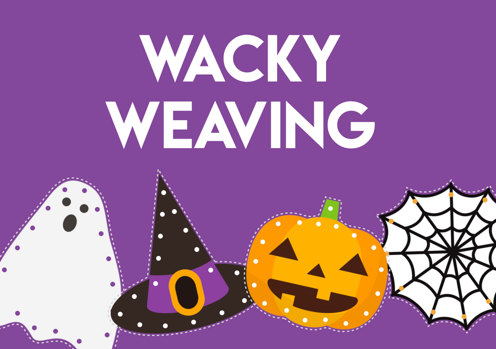halloween weaving threading fine motor activity