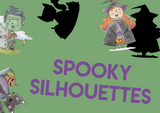 halloween spooky silhouettes matching activity