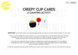 halloween number clip peg cards