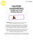halloween haunted handwriting lowercase letter writing practice