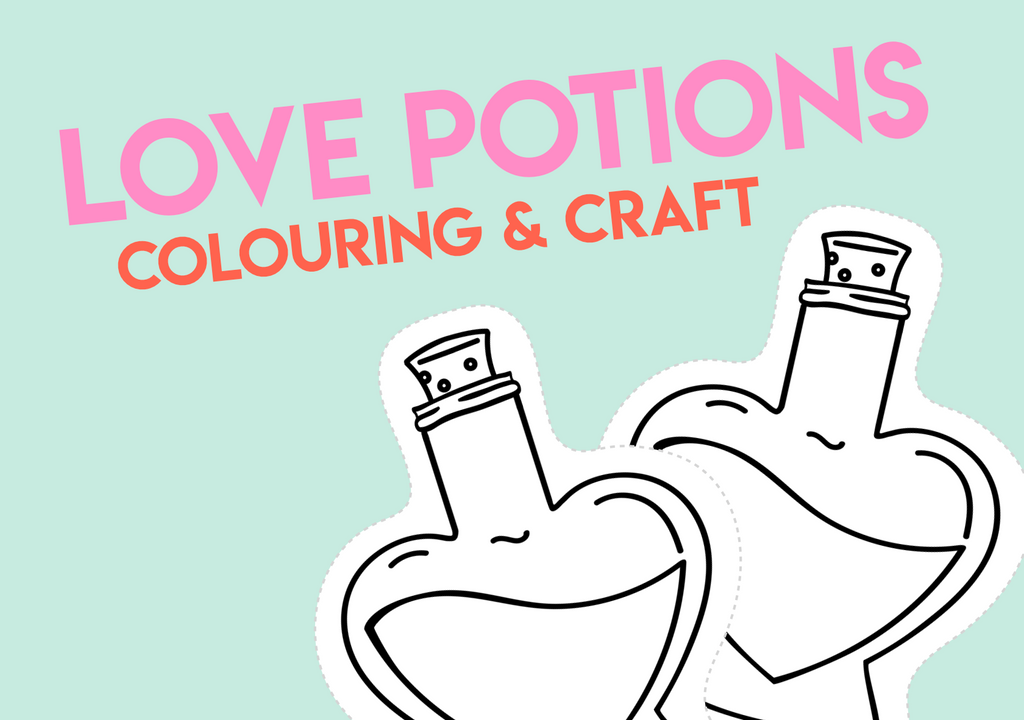 love potions colouring and craft printable
