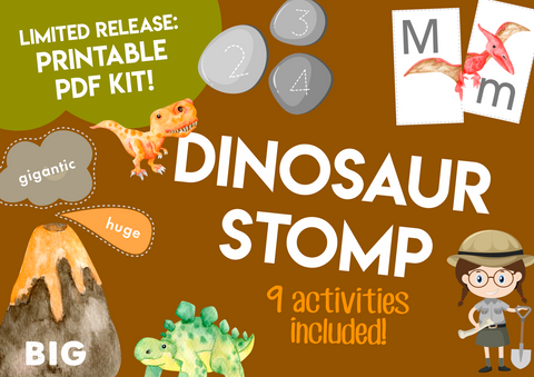 Play & Learn Kit - Ready to Print! DINOSAUR STOMP