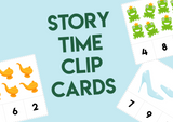 Story Time Number Clip Cards