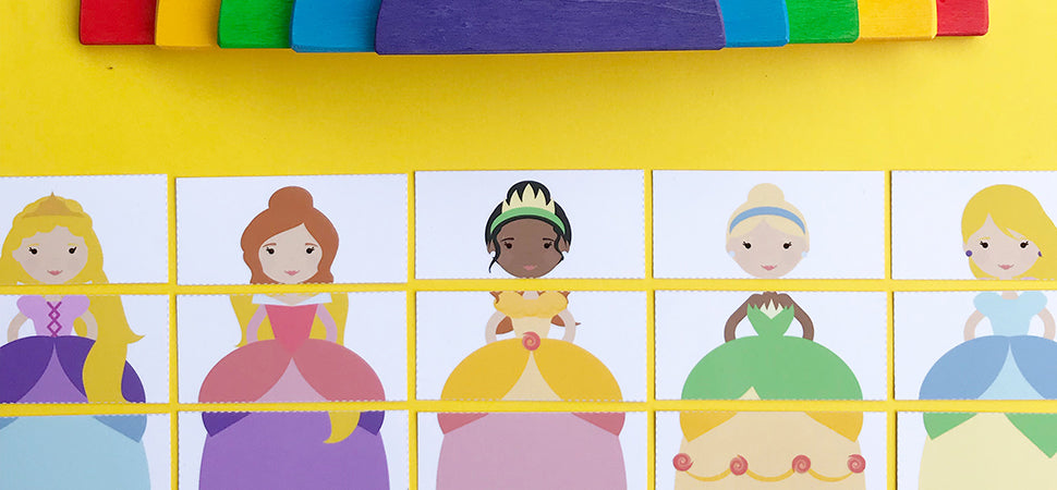 princess puzzles early learning matching activity