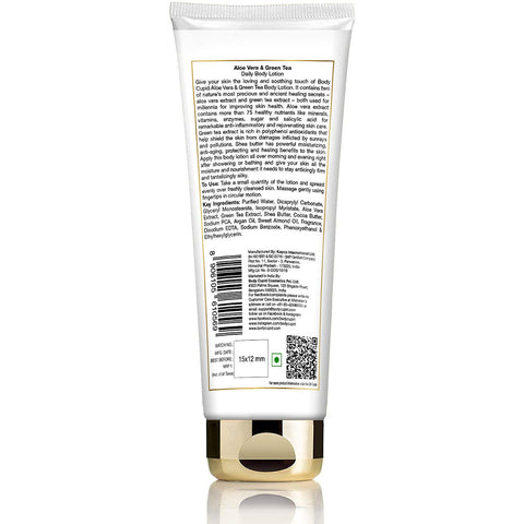 Image of Body Cupid Aloe Vera and Green Tea Body Lotion - 200 mL Tube - Body Cupid - Bath & Body Luxury