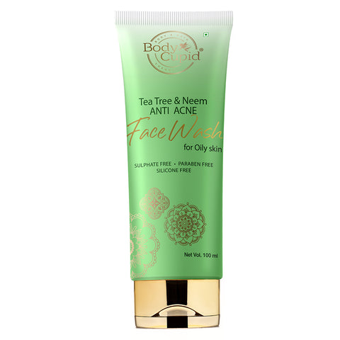 Body Cupid Tea Tree & Neem Anti Acne Face Wash - 100ml - Body Cupid - Bath & Body Luxury