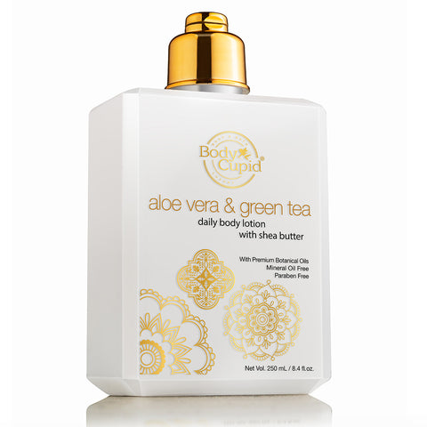 Image of Body Cupid Aloe Vera and Green Tea Daily Body Lotion - Body Cupid - Bath & Body Luxury
