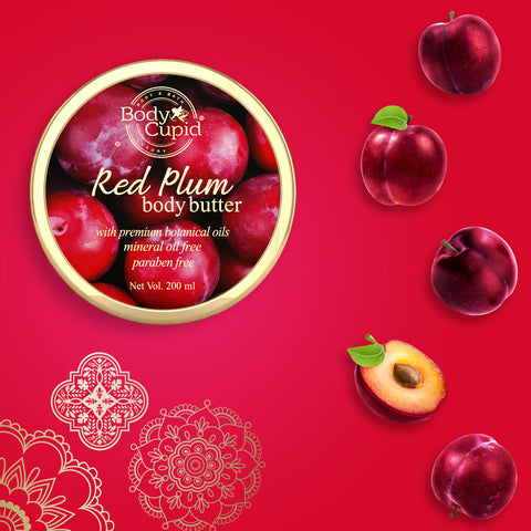Image of Body Cupid Red Plum Body Butter - 200 mL - Body Cupid - Bath & Body Luxury