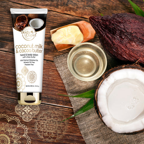 Body Cupid Coconut Milk and Cocoa Butter Body Lotion - 200 mL Tube - Body Cupid - Bath & Body Luxury