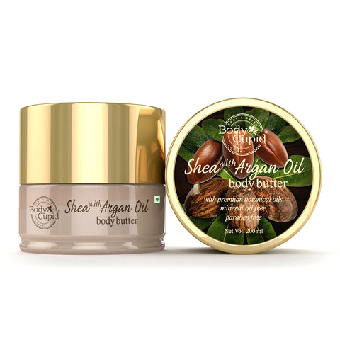 Image of Body Cupid Shea with Argan Oil Body Butter - 200 mL - Body Cupid - Bath & Body Luxury