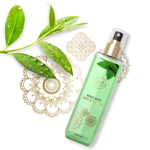 Image of Body Cupid Mint and Tea Tree Body Mist - 200 mL - Body Cupid - Bath & Body Luxury