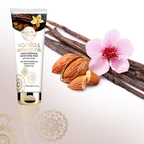 Body Cupid Vanilla and Almond Milk Body Lotion - 200 mL Tube - Body Cupid - Bath & Body Luxury
