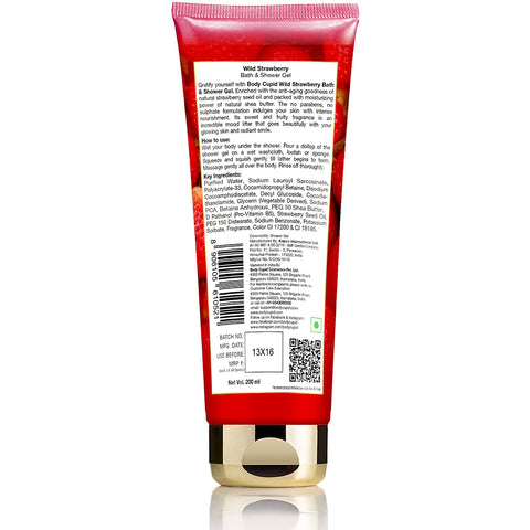 Image of Body Cupid Wild Strawberry Shower Gel - 200 mL Tube - Body Cupid - Bath & Body Luxury